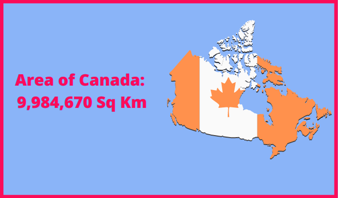 Area of Canada compared to Germany