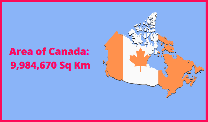 Area of Canada compared to Israel