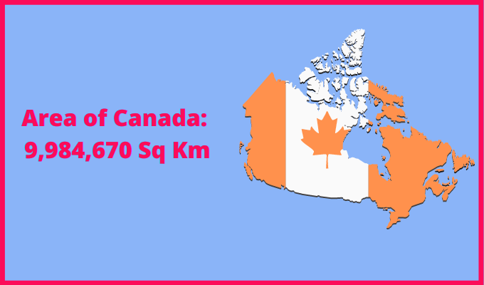 Area of Canada compared to Italy