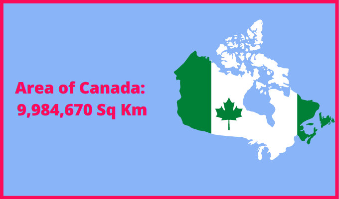 Area of Canada compared to Jersey