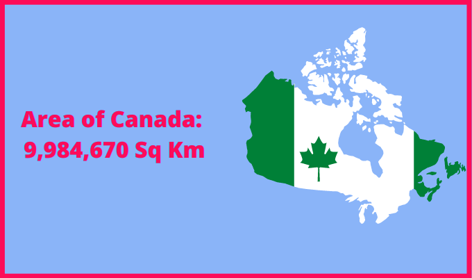 Area of Canada compared to Luxembourg