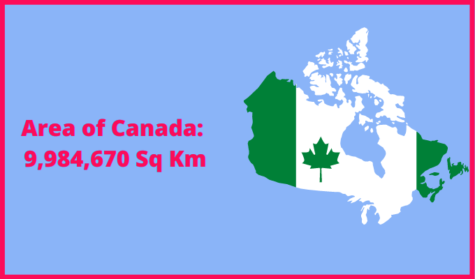 Area of Canada compared to Netherlands