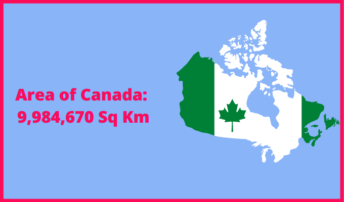Area of Canada compared to Norway