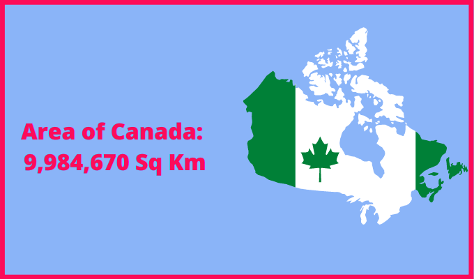Area of Canada compared to Pakistan