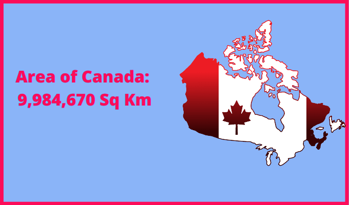 Area of Canada compared to Sweden