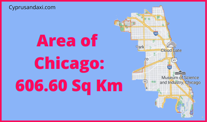 Area of Chicago compared to England