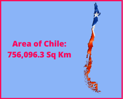 Area of Chile compared to the UK