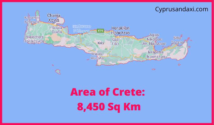 Area of Crete compared to Wales