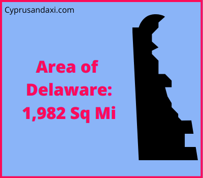 Area of Delaware compared to England