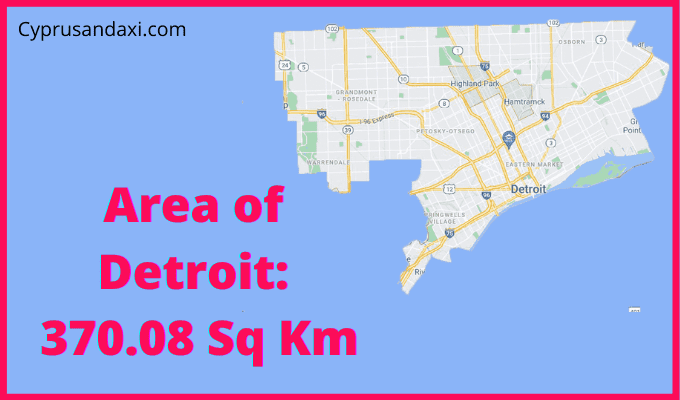 Area of Detroit compared to Canada