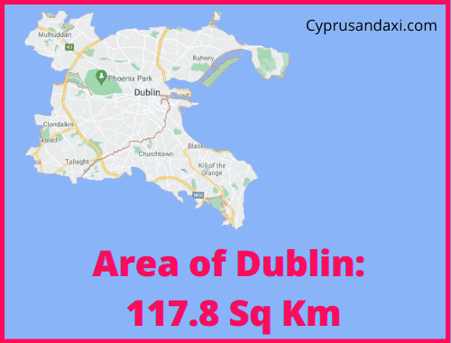 Area of Dublin compared to Northern Ireland