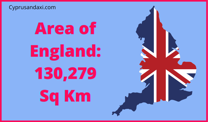 Area of England compared to Barbados