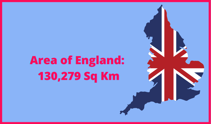 Area of England compared to Chicago