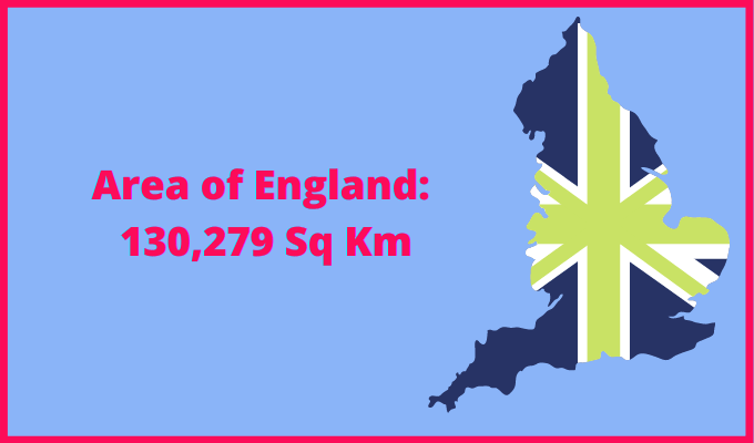 Area of England compared to Costa Rica