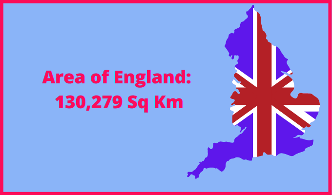 Area of England compared to Ireland