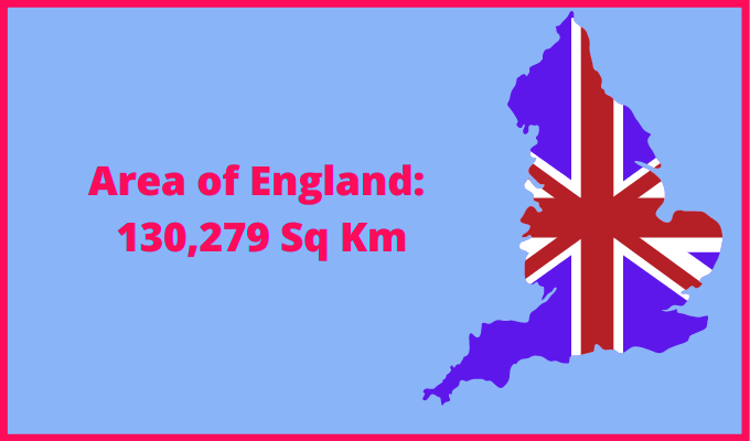 Area of England compared to Massachusetts