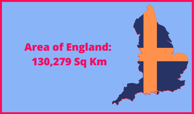 Area of England compared to Mexico