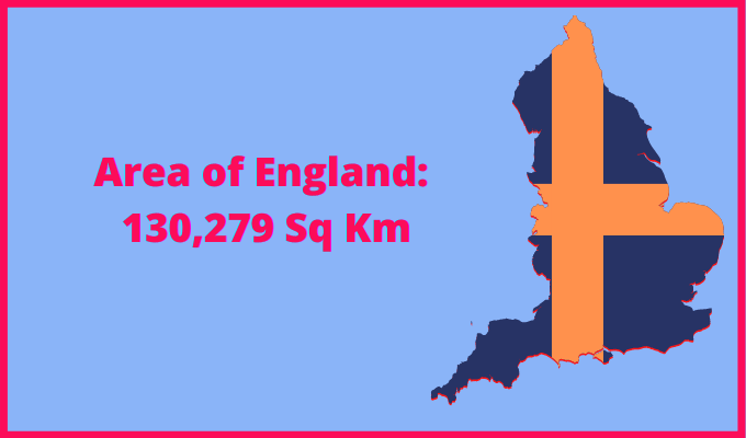 Area of England compared to New York State