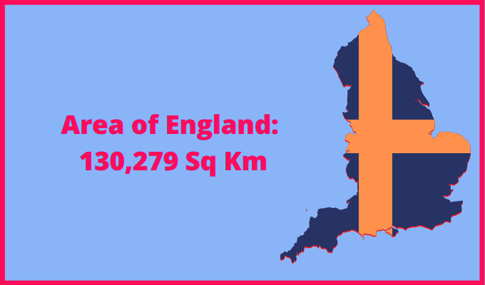 Area of England compared to Pakistan