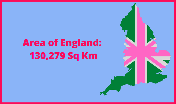 Area of England compared to Quebec