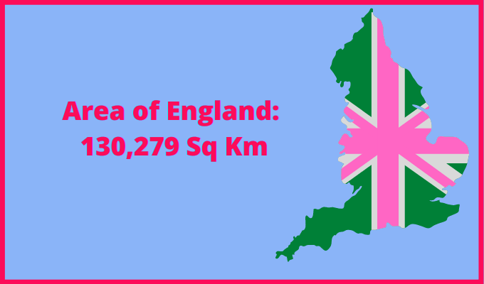 Area of England compared to South Africa