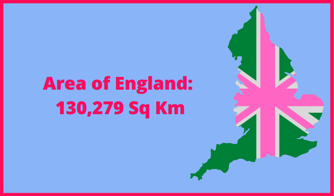Area of England compared to Spain