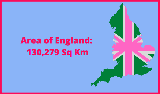 Area of England compared to Sweden