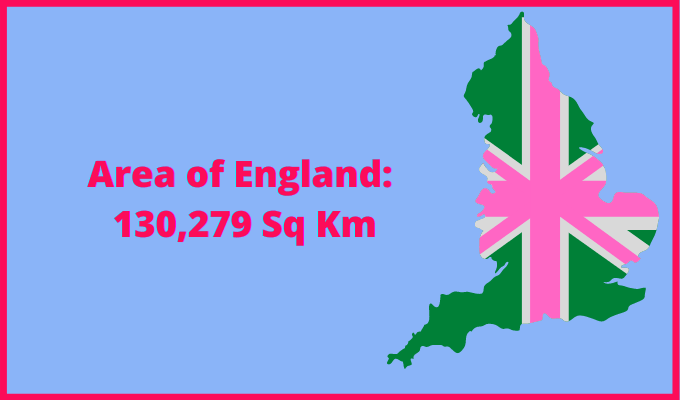 Area of England compared to Taiwan