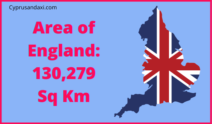 Area of England compared to Wales