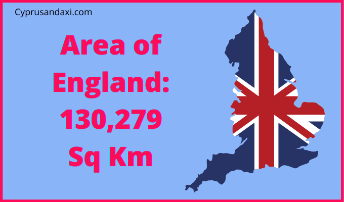 Area of England compared to Wisconsin