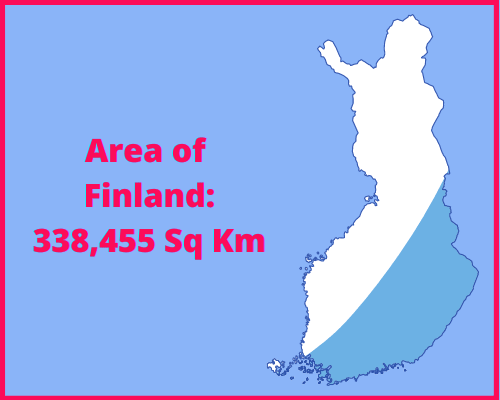 Area of Finland compared to England