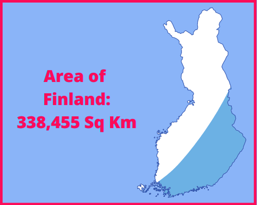 Area of Finland compared to the UK