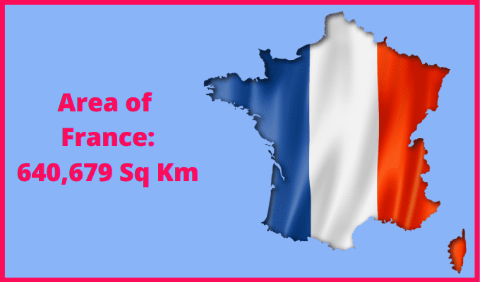 Area of France compared to England