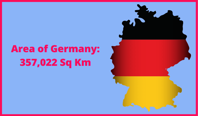 Area of Germany compared to England