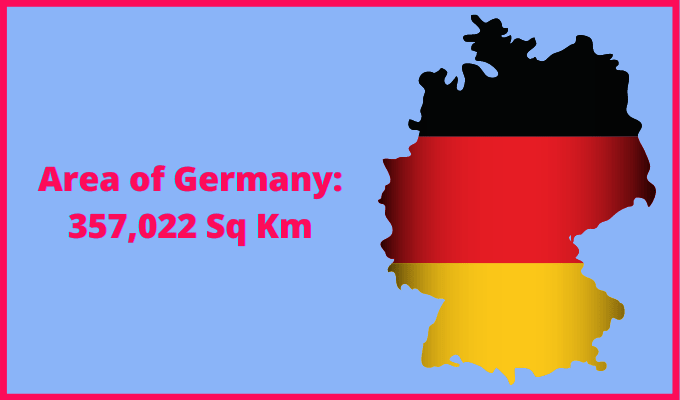 Area of Germany compared to the UK