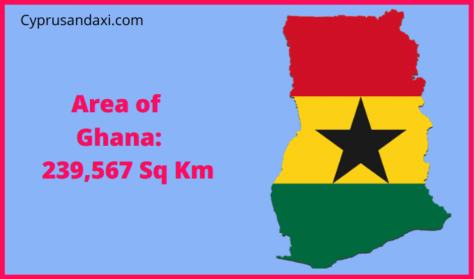 Area of Ghana compared to the UK