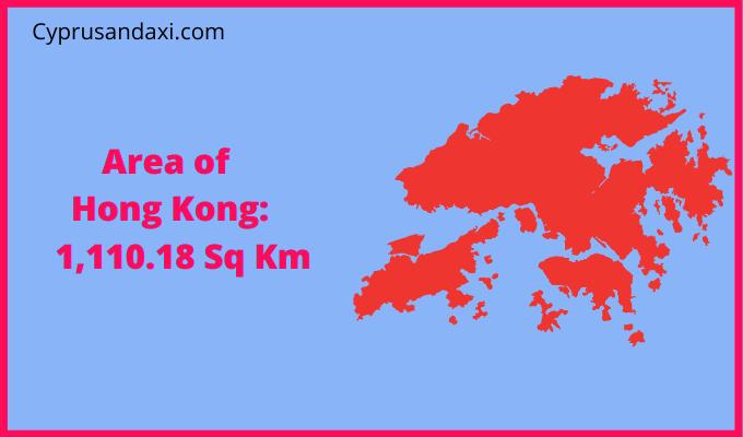 Area of Hongkong compared to Australia