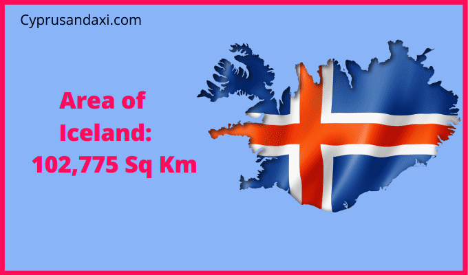 Area of Iceland compared to the UK