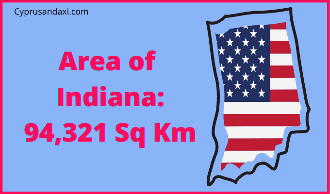 Area of Indiana compared to England