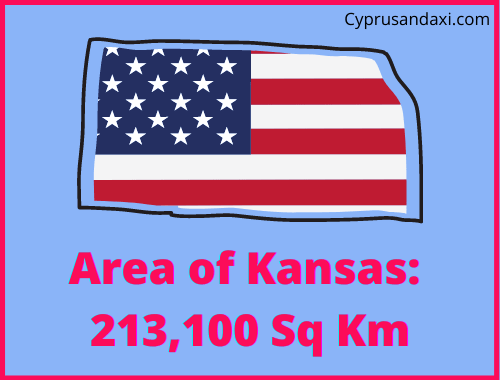Area of Kansas compared to the UK