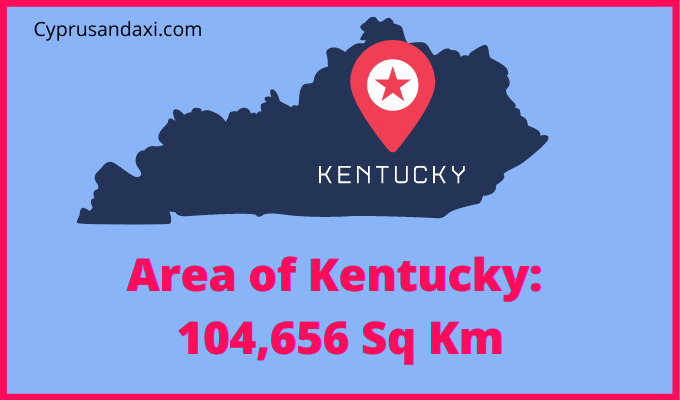 Area of Kentucky compared to Northern Ireland