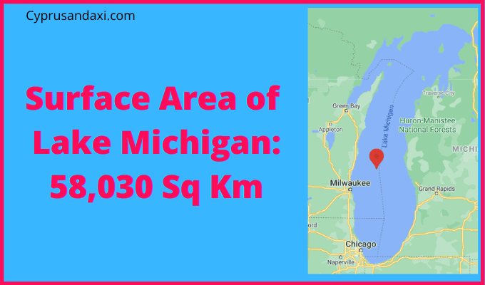 Area of Lake Michigan compared to Wales