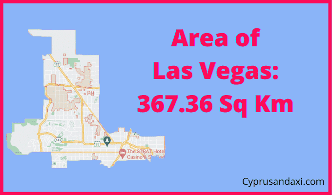Area of Las Vegas compared to the UK