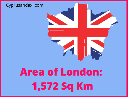 Area of London compared to Canada