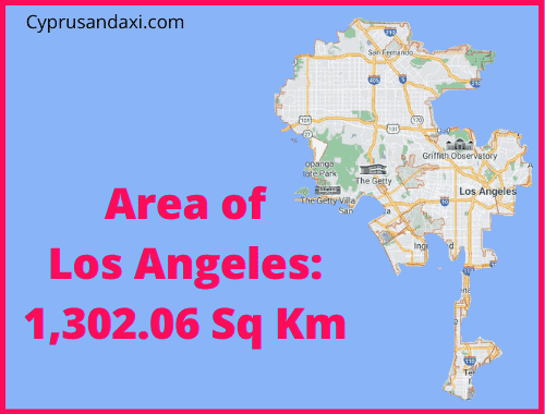 Area of Los Angeles compared to the UK