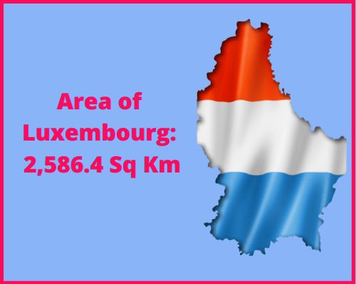 Area of Luxembourg compared to Wales