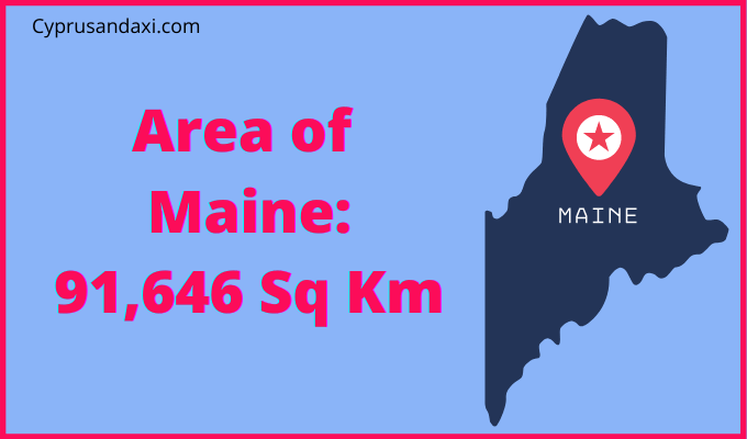Area of Maine compared to England