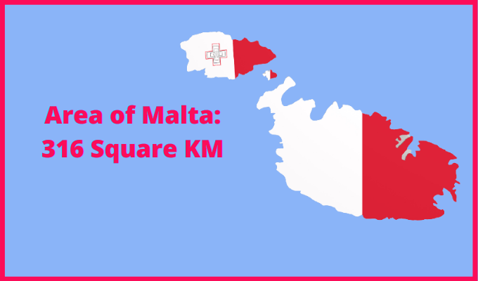 Area of Malta compared to Germany