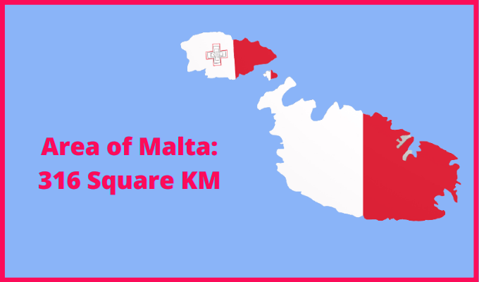 Area of Malta compared to Japan