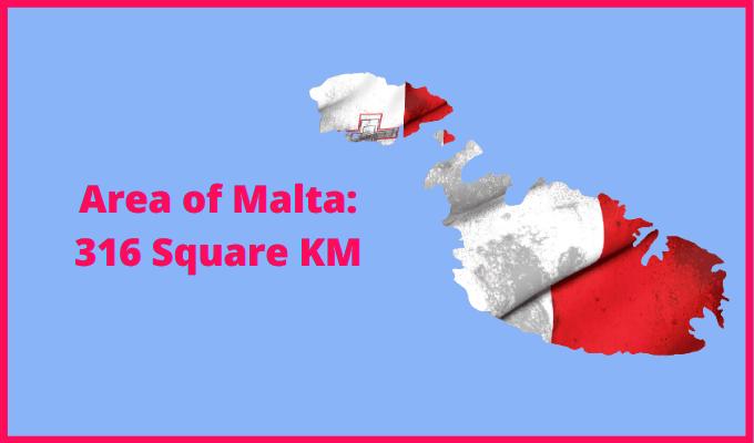 Area of Malta compared to Madeira